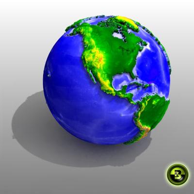 globe elevation maps max