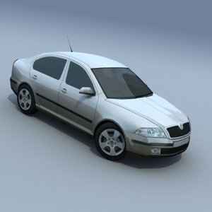 skoda octavia auto 3d model