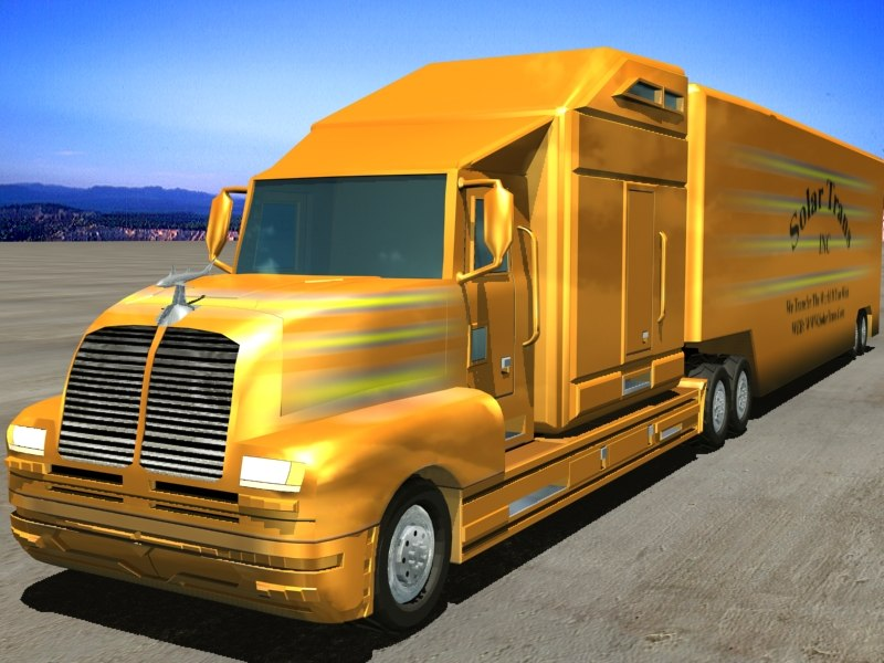 truck trailers 3d dxf