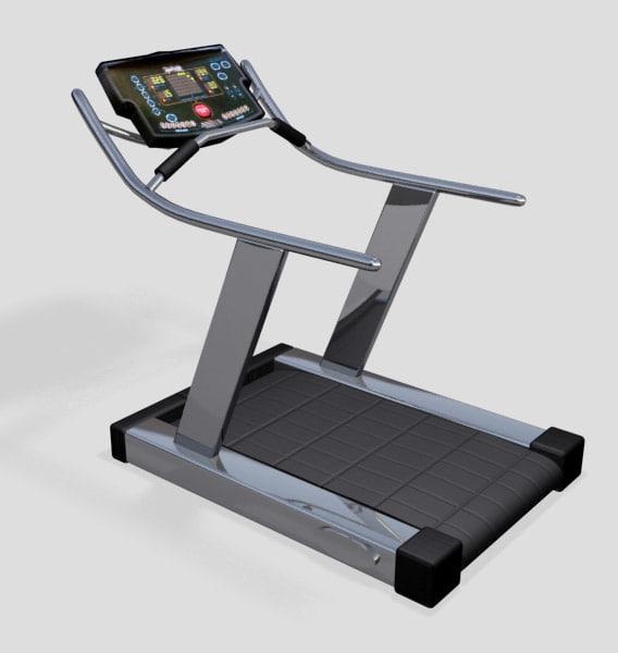 treadmill exercise 3d max