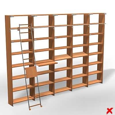 3d model shelves