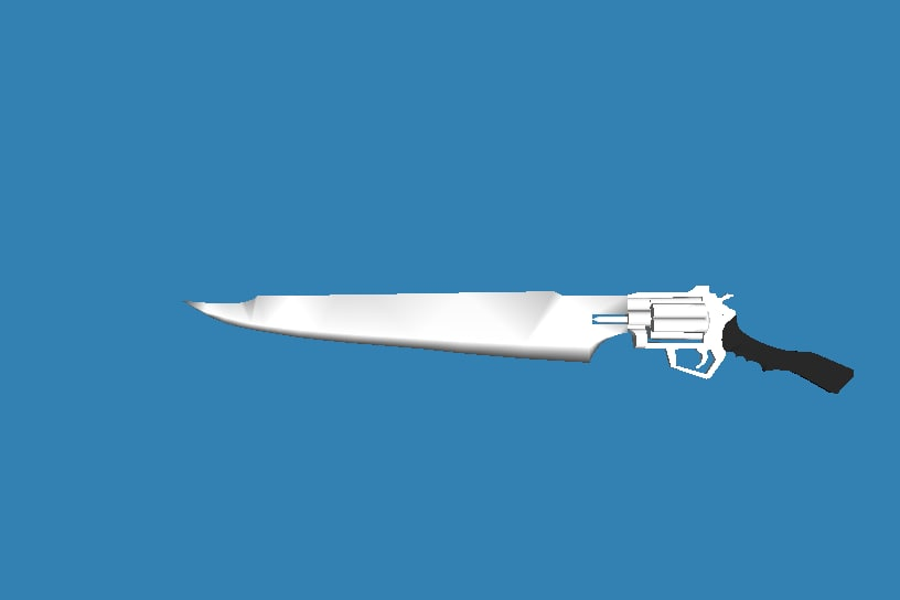 3d gunblade gun blade model