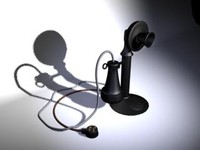 3ds max old telephone