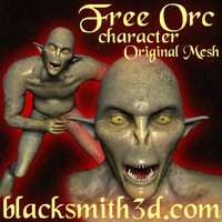 free 3ds model orc poser