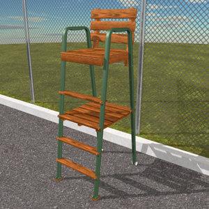 3d max umpire chair