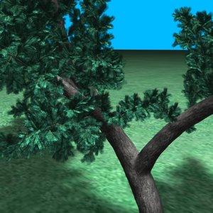 3ds bush tree pines