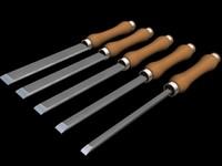 5 Wood handled Chisels