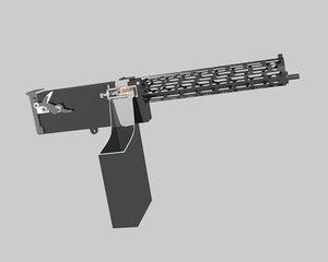 free wwi machine gun 3d model