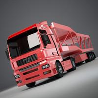 3d model man tga platform car