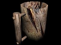free 3ds model wooden mug