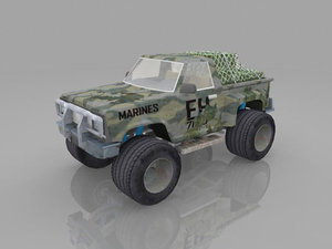 3d 4x4 flairside pickup
