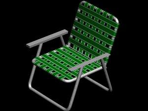 3dsmax lawn chair