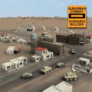 3d arab village scenario model