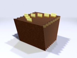 accordian file 3d model