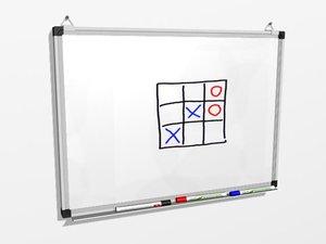 whiteboard markers 3d model