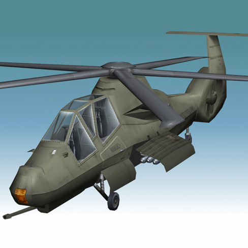 3dsmax comanche helicopter