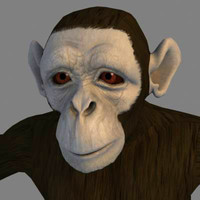 Monkey - Textured - 3ds