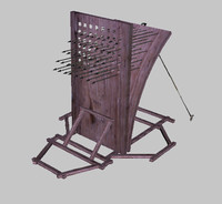catapult medieval arrows 3d model