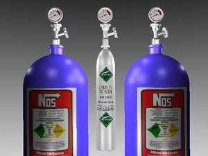 free nitrous bottles co2 3d model