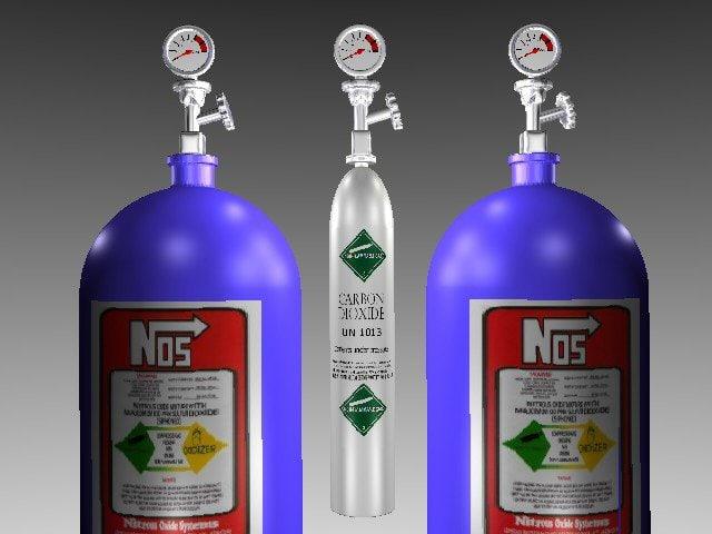 free nitrous bottles co2 3d model
