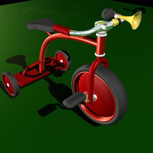 3d model childs tricycle