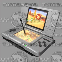 3d model of nintendo gameboy nintendods