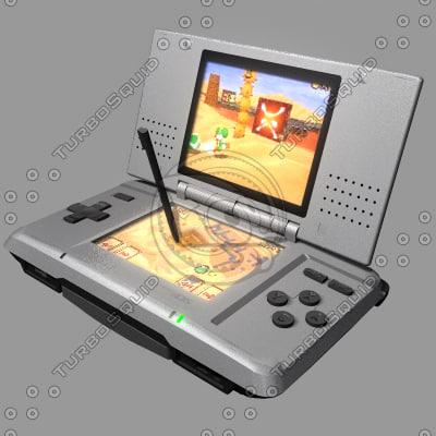 3d model of nintendo gameboy nintendods