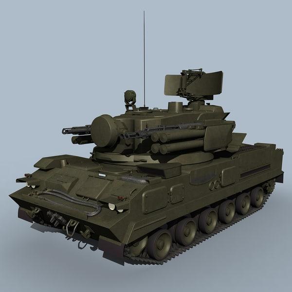 russian sa-19 grison 3d model