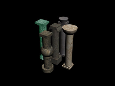3d model pillars temples
