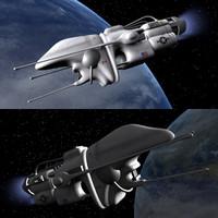 3d surveillance space drone model