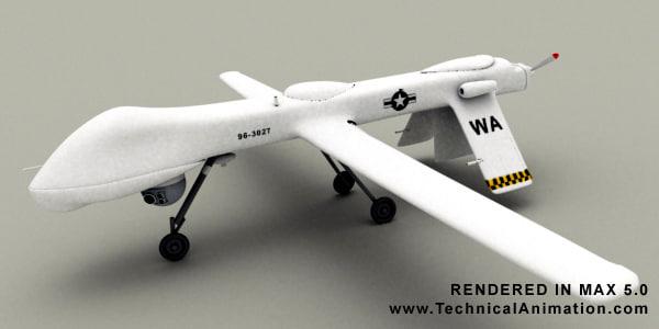predator uav 3d model