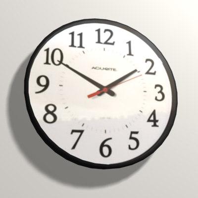 modern wall clock 3d max
