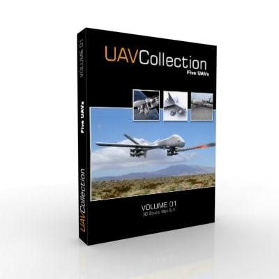 uavs predator mq-9b 3d model