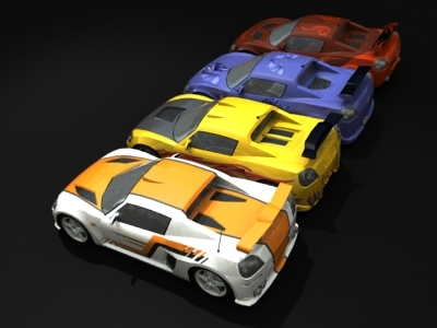 opel speedster car 3d model