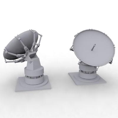3d dish antenna model