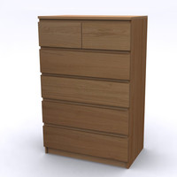 MALM Chest 6 drawers