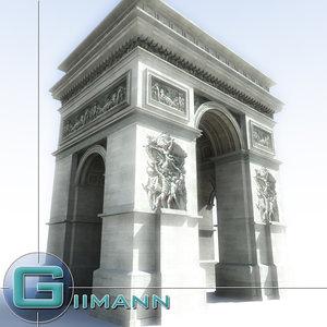 arc triomphe 3d model