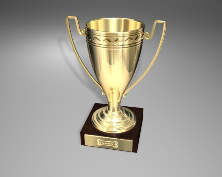 3d trophy award cup model