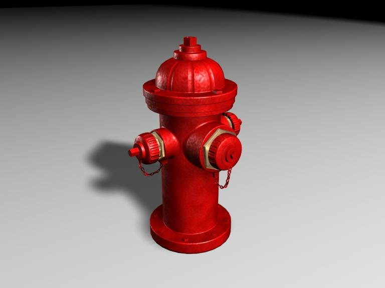 firehydrant hydrant 3d obj