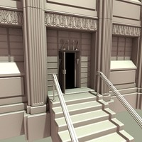 art deco building 3d model