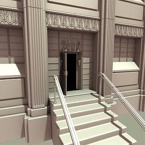 art deco building 3d model
