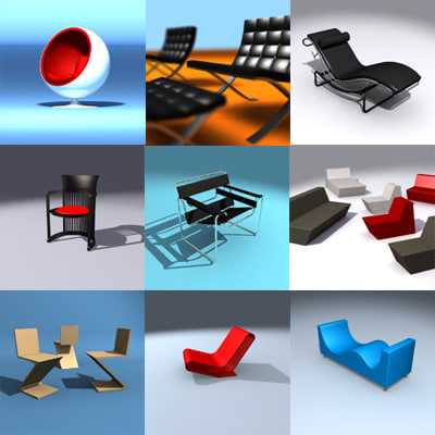 design chair furniture 3d model