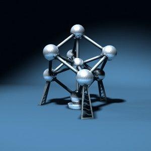 atomium landmark 3d model