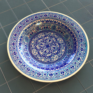 handpainted ceramic plates handmade 3d model