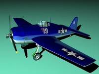 3d hellcat fighter airplane model