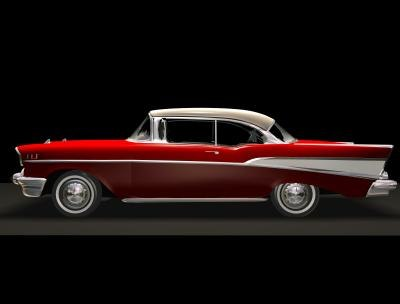 free 57 chevy 3d model