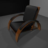 3d futuristic art deco chair model