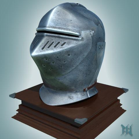 old arme helmet 3d max