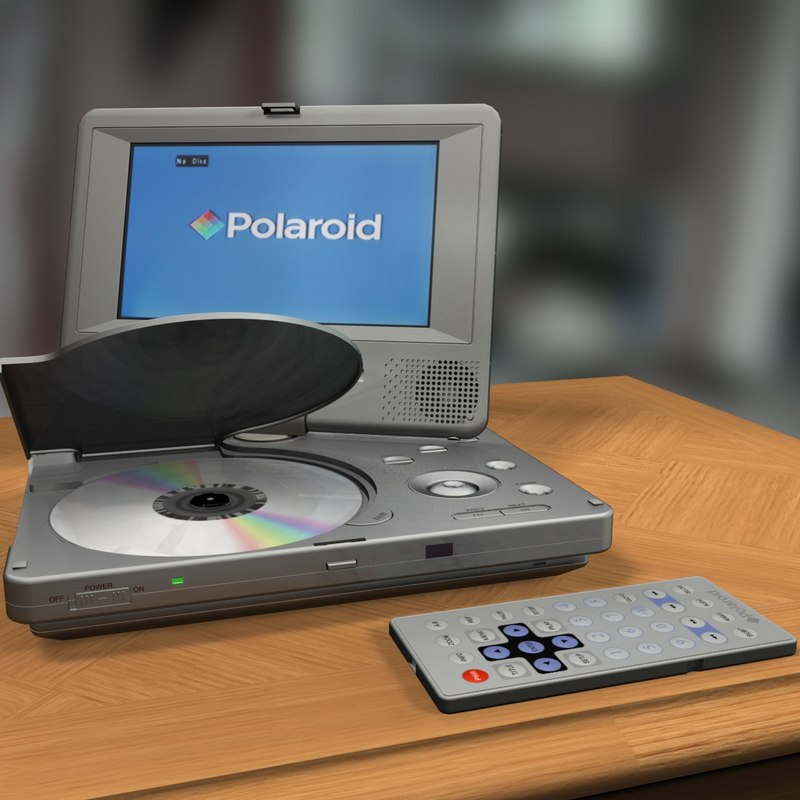 portable dvd player 3d model