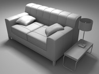 3d yapp couch model
